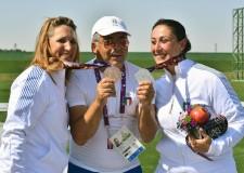 A Baku doppio podio nello skeet femminile: argento e record per la Bacosi, bronzo per la Caniato.