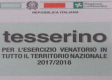 Tesserino venatorio Lombardia: distribuzione dal 7 agosto.