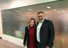 Giorgia Meloni con Pietro Fiocchi